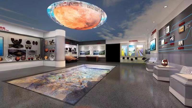 ▲魚文化與太陽文化展廳效果圖